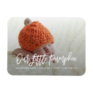 Our Little Pumpkin Birth Announcement Magnet