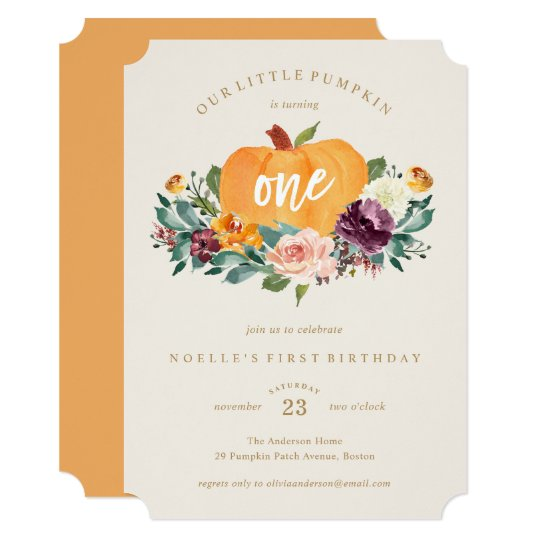 Our little pumpkin first birthday invitation zazzle our little pumpkin first birthday invitation filmwisefo