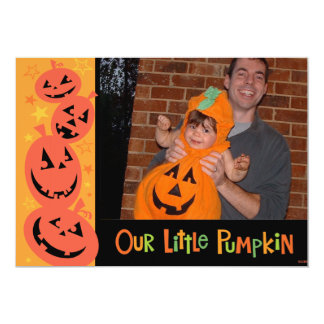 Our Little Pumpkin Halloween Photo Card