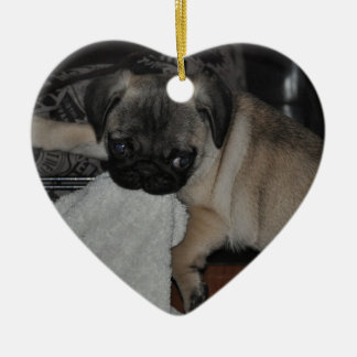 Our little puppy ceramic ornament