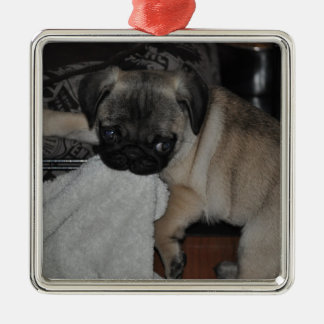 Our little puppy metal ornament