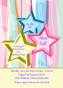 Our Little Star Invitation