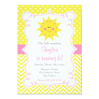 Our little Sunshine Birthday Card