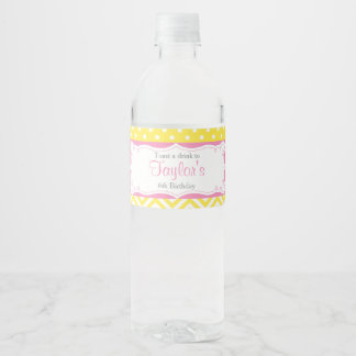 Our little Sunshine Birthday Water Bottle Label