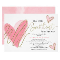 Our Little Sweetheart Shower by Mail baby shower Invitation
