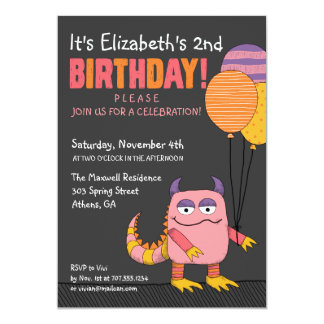 Our Little Wild Thing Birthday Invitation