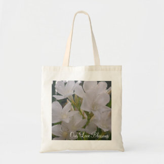 Our Love Blossoms Wedding Tote Budget Tote Bag