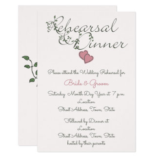 Our Love Deeply Rooted Wedding Rehearsal & Dinner Card