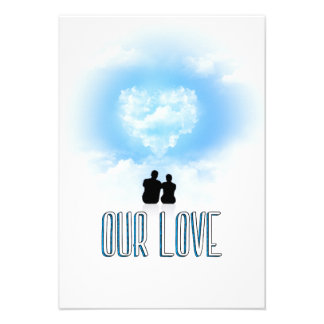 Our love/Heart Cloud Invite