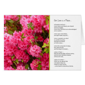 Our Love is a Place...Romance Greeting Cards