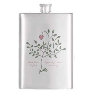 Our Love is Deeply Rooted Hip Flask
