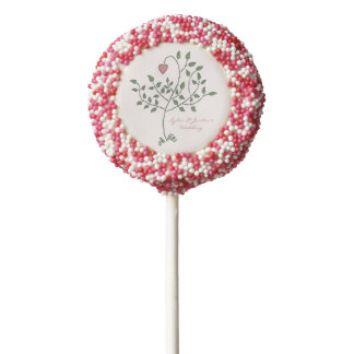 Our Love is Deeply Rooted Wedding Chocolate Covered Oreo Pop