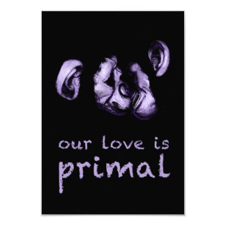 our love is primal : kissing chimps card