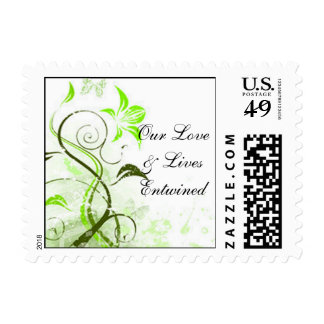 Our Love & Lives Entwined Vine - Customized Postage Stamp