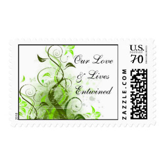 Our Love & Lives Entwined Vine Postage Stamp