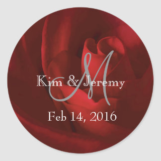 Our Love Romantic Save the Date Classic Round Sticker