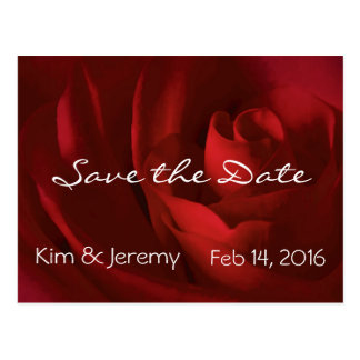 Our Love Romantic Save the Date Postcard