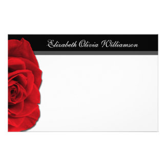 Our Love Rose ~ horizontal stationery