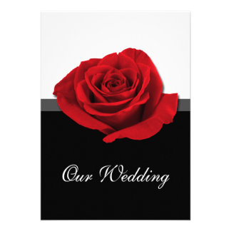Our Love Rose Wedding Invitations