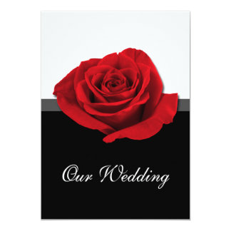 "Our Love Rose ~ Wedding Invitations 5"" X 7"" Invitation Card"