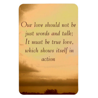 Our love should not be just words magnet