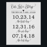 "Our Love Story Timeline Wedding Sign Decor<br><div class=""desc"">Simple modern calligraphy love story dates wedding sign decor perfect for your reception,  ceremony,  or anniversary gift!</div>"