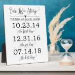 "Our Love Story Timeline Wedding Sign Decor Plaque<br><div class=""desc"">Simple modern calligraphy love story dates wedding sign decor perfect for your reception,  ceremony,  or anniversary gift!</div>"