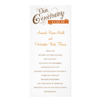 Our Love Story Wedding Program