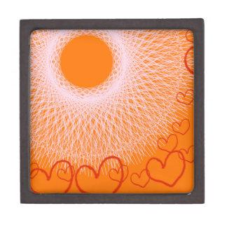 our love to orange sun keepsake box