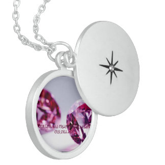 OUR LOVE WAS CREATED THE MOMENT OUR EYES MET ROUND LOCKET NECKLACE
