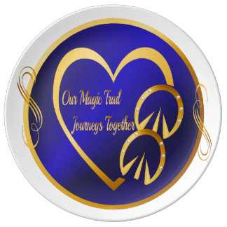 Our Magic Trail Journeys Together Porcelain Plate