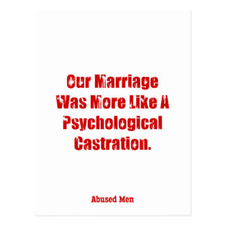Our Marriage Was More Like A Psychological … Postcard