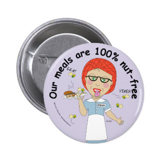 Our meals are 100% Nut Free 2 Inch Round Button