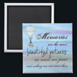 """Our Memories 2 Inch Square Magnet<br><div class=""""desc"""">Add some color and character to your kitchen decor with one of our amazing magnet designs! Please like us on Facebook at https://www.facebook.com/Red-Wyvern-Designs-and-Myth-Legend-Gifts-1045654732191671/</div>"""
