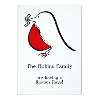 Our Merry English Robin Invitation
