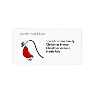 Our Merry English Robin Label