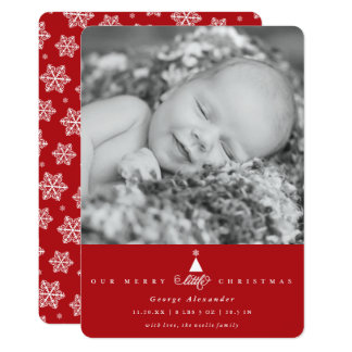 Our Merry Little Christmas Baby Holiday Photo Card