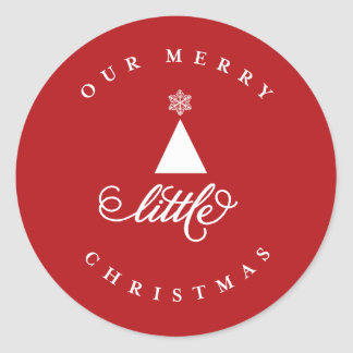 Our Merry Little Christmas Tree Star Baby Sticker