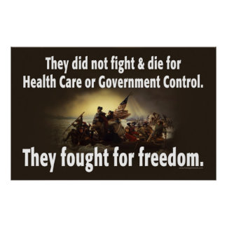 Our Military fought for freedom.... Poster