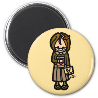 our minds are magnets. 2 inch round magnet
