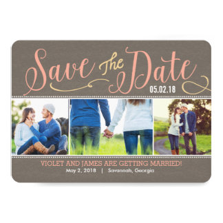 Our Moments Save The Date Card - Peach