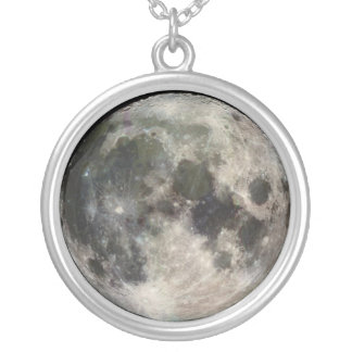 Our Moon on a Round Necklace