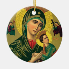 Our Mother Of Perpetual Help Jesus Ceramic Ornament at Zazzle