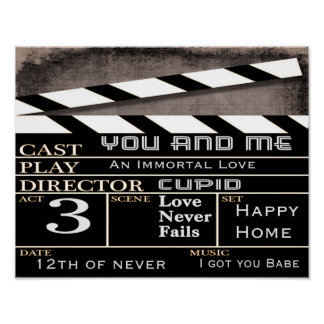 Our Movie Clapboard -- art print