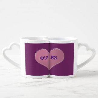 OUR MUGS PINK/PURPLE COUPLES' COFFEE MUG SET