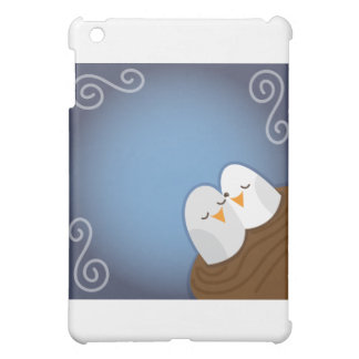 Our Nest is Blessed with Sapphire love birds Cover For The iPad Mini