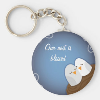Our Nest is Blessed with Sapphire love birds Keychain