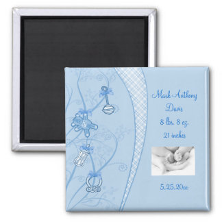 Our New Addition In Blue Hues 2 Inch Square Magnet