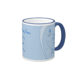 Our New Addition In Blue Hues Ringer Coffee Mug