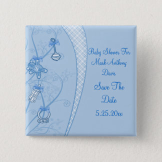 Our New Addition In Blue Hues Pinback Button